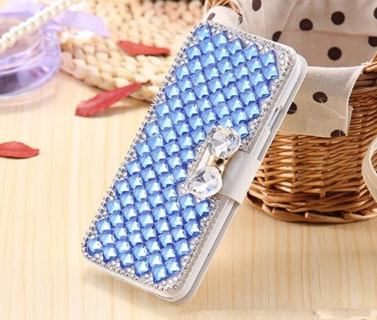 Galaxy S9 Case,Galaxy S9 Wallet Case,Luxury 3D Bling Crystal Rhinestone Flip Folio Wallet Case PU Leather Scratch Resistant Stand Card Slots Protective Case Touch Pen Dust Plug for Galaxy S9,Hot Pink