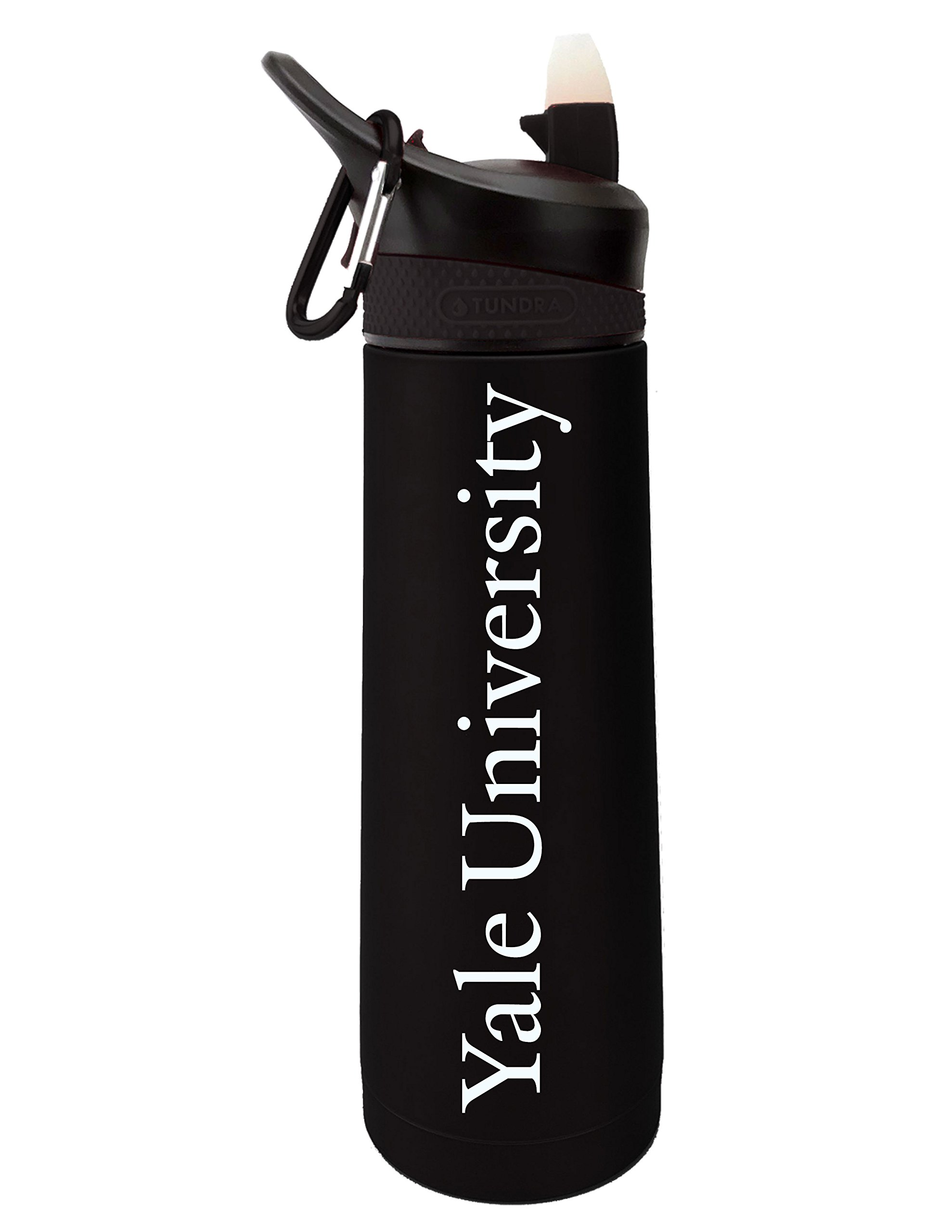 Fanatic Group Yale University Dual Walled Stainless Steel Sports Bottle, Design 2 - Black