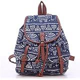 WINOMO Girls Ladies Womens Canvas Backpack Rucksack School Bag Casual Bag Daypack