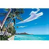 ハワイアン雑貨 インテリア/キャンバス パネル絵(Waikiki Beach) 【ハワイ雑貨】【お土産】