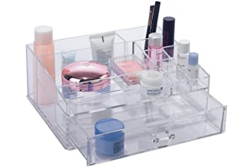 4e31b8b8223f Amazon.com: BathSense Acrylic Collection Bathroom Vanity Top Makeup ...