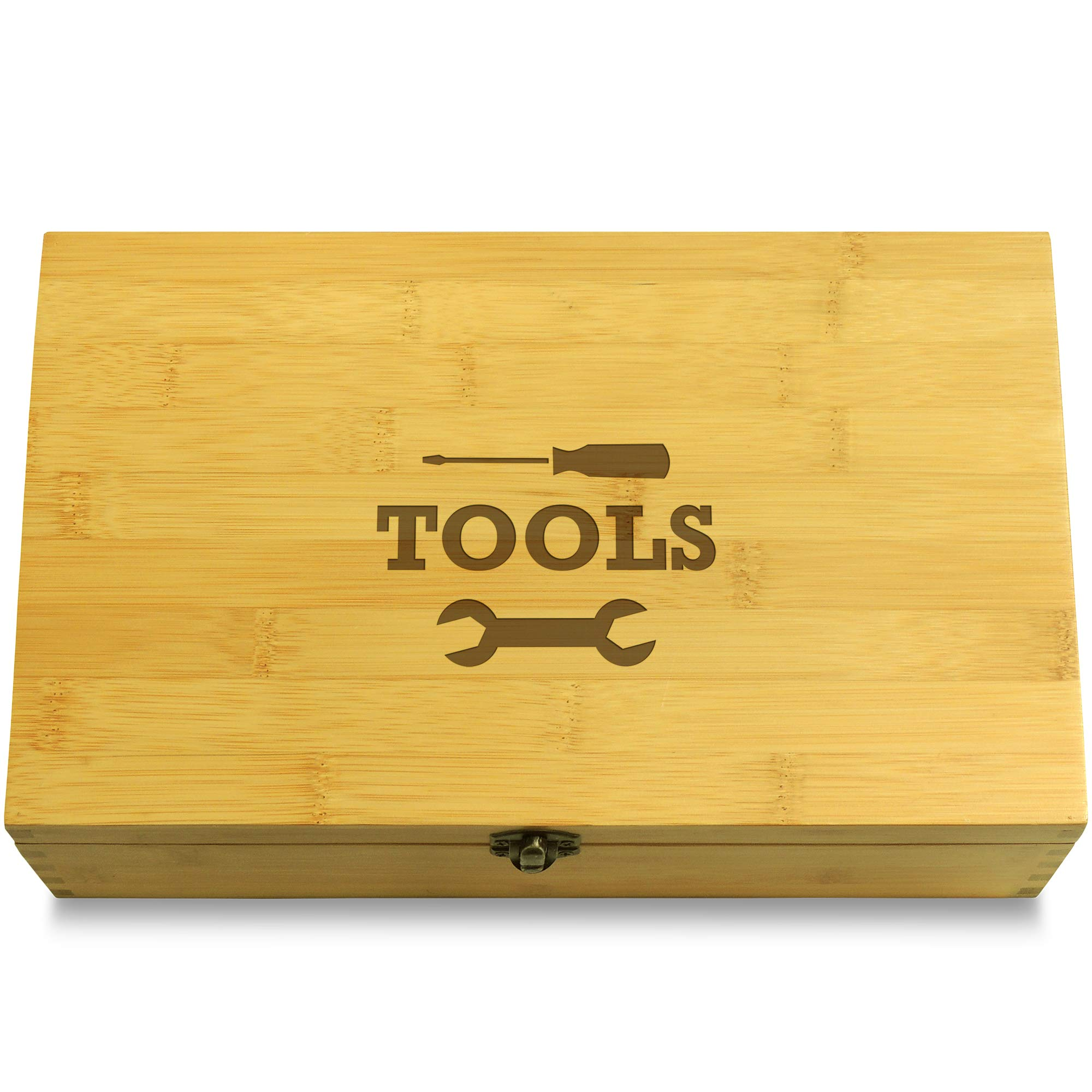 Cookbook People Wrench & Screwdriver Tools Workshop Multikeep Box - Memento Wood Adjustable Organizer