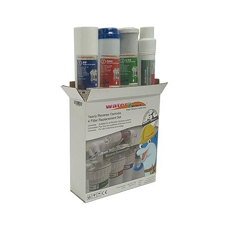 Set Filtri Di Ricambio Annuo Per Filtro Ad Osmosi Inversa Amazon It