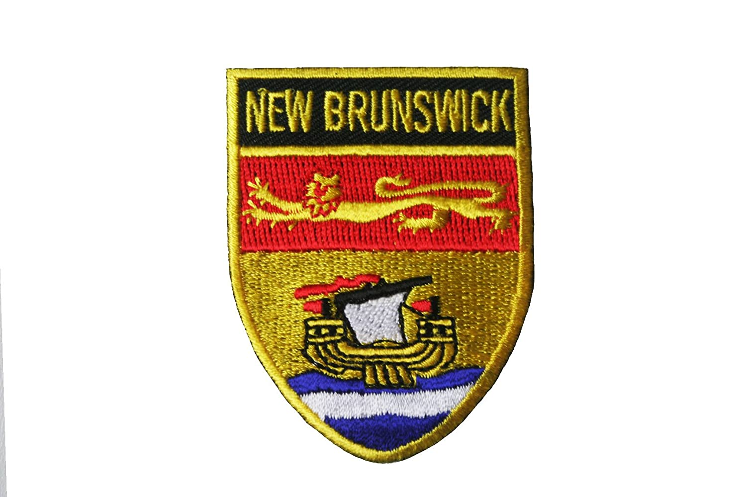 New Brunswick Flag Patch Embroidered Iron On Applique