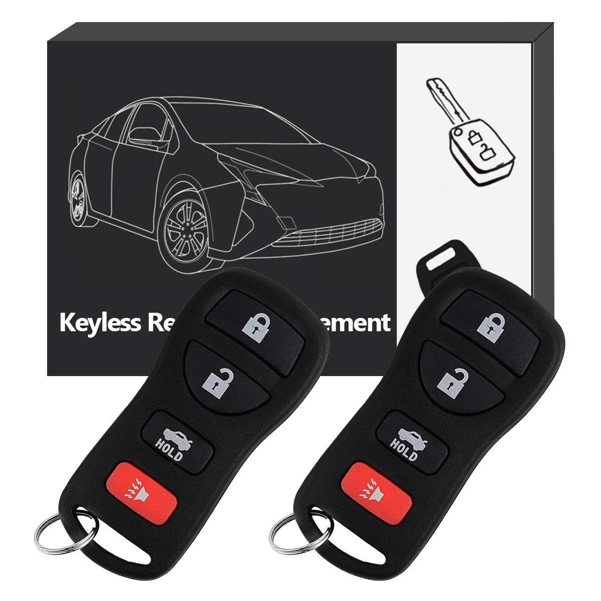 YITAMOTOR Keyless Entry Remote Control Compatible for 2002-2006 Nissan Altima 2007-2012 Nissan Sentra Key Fob Replacement for KBRASTU15, CWTWB1U758, CWTWB1U821