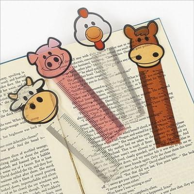 "24 FARM ANIMAL Character BOOKMARKS/HORSE/Cow/PIG/Chicken/PARTY FAVORS/TEACHER/Classroom PRIZES/2 dozen/5.25"""