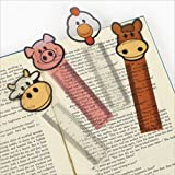 24 FARM ANIMAL Character BOOKMARKS/HORSE/Cow/PIG/Chicken/PARTY FAVORS/TEACHER/Classroom PRIZES/2 dozen/5.25""