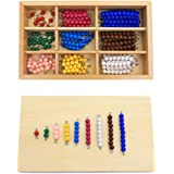 Montessori Checker Board Beads Early Development Mathematics Material For Kids Wooden Toy