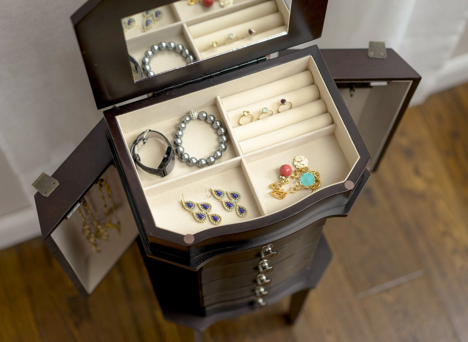 Hives & Honey Meg Espresso Jewelry Armoire by Hives and Honey (Image #4)