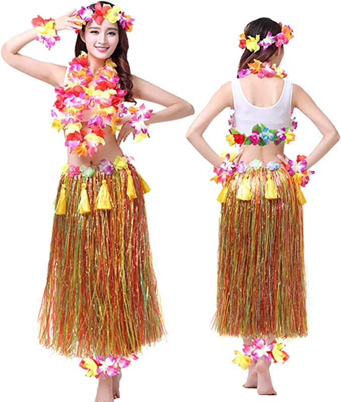 Amazon.com: Hawaii hula hoop – Adulto vestido Ocho pieza ...