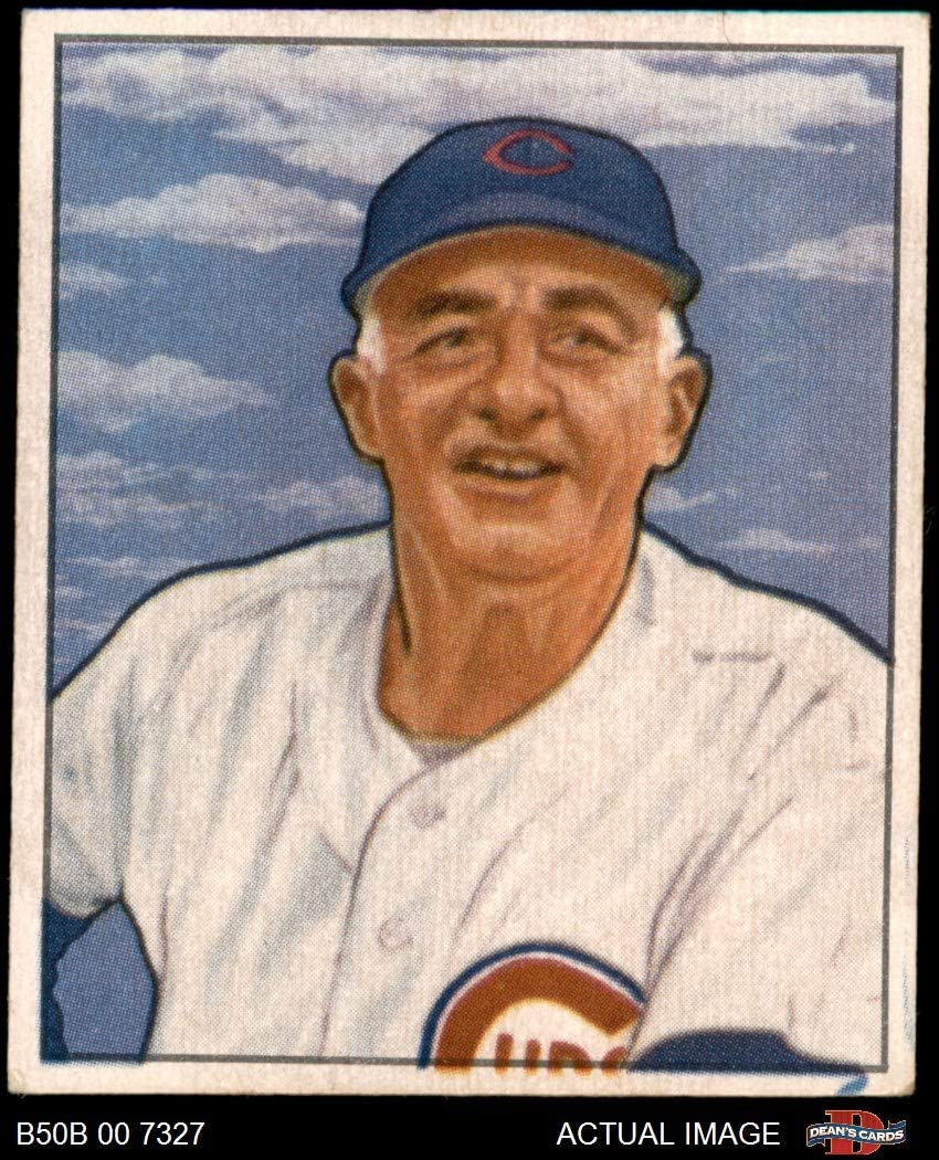 1950 Bowman # 229 CR Frankie Frisch Chicago Cubs (Baseball Card) (with Copyright on Back) Dean's Cards 4 - VG/EX Cubs 71RANLJkPtL