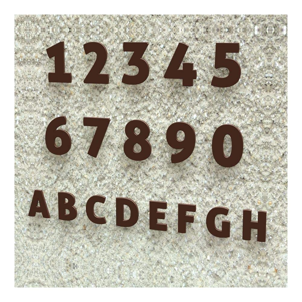 Edelstahl 5 H/öhe: 20-30 cm , 20 cm geb/ürstet viele Farben w/ählbar Colours-Manufaktur Hausnummer Nr Schriftart: Modern