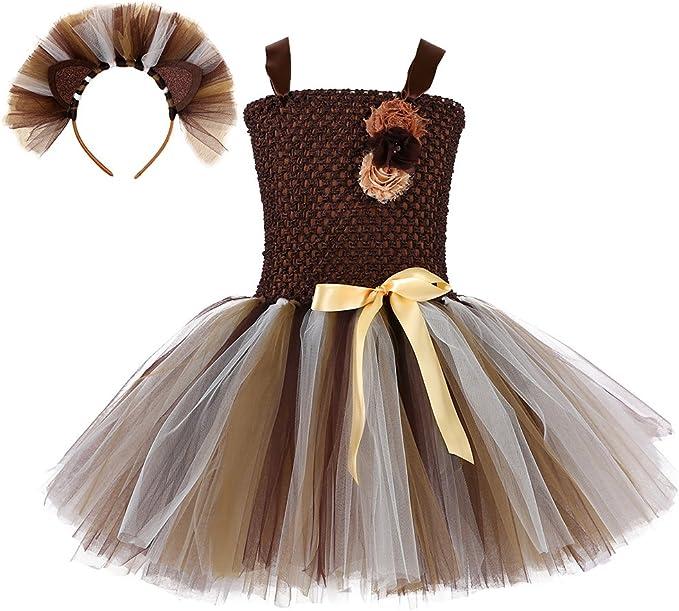 Tutu Dreams - Disfraz de rey león hecho a mano para niñas de 2 a 8 ...