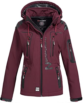 timeless design 53f04 fc694 Geographical Norway Damen Softshell Outdoor Jacke Tassion abnehmbare Kapuze