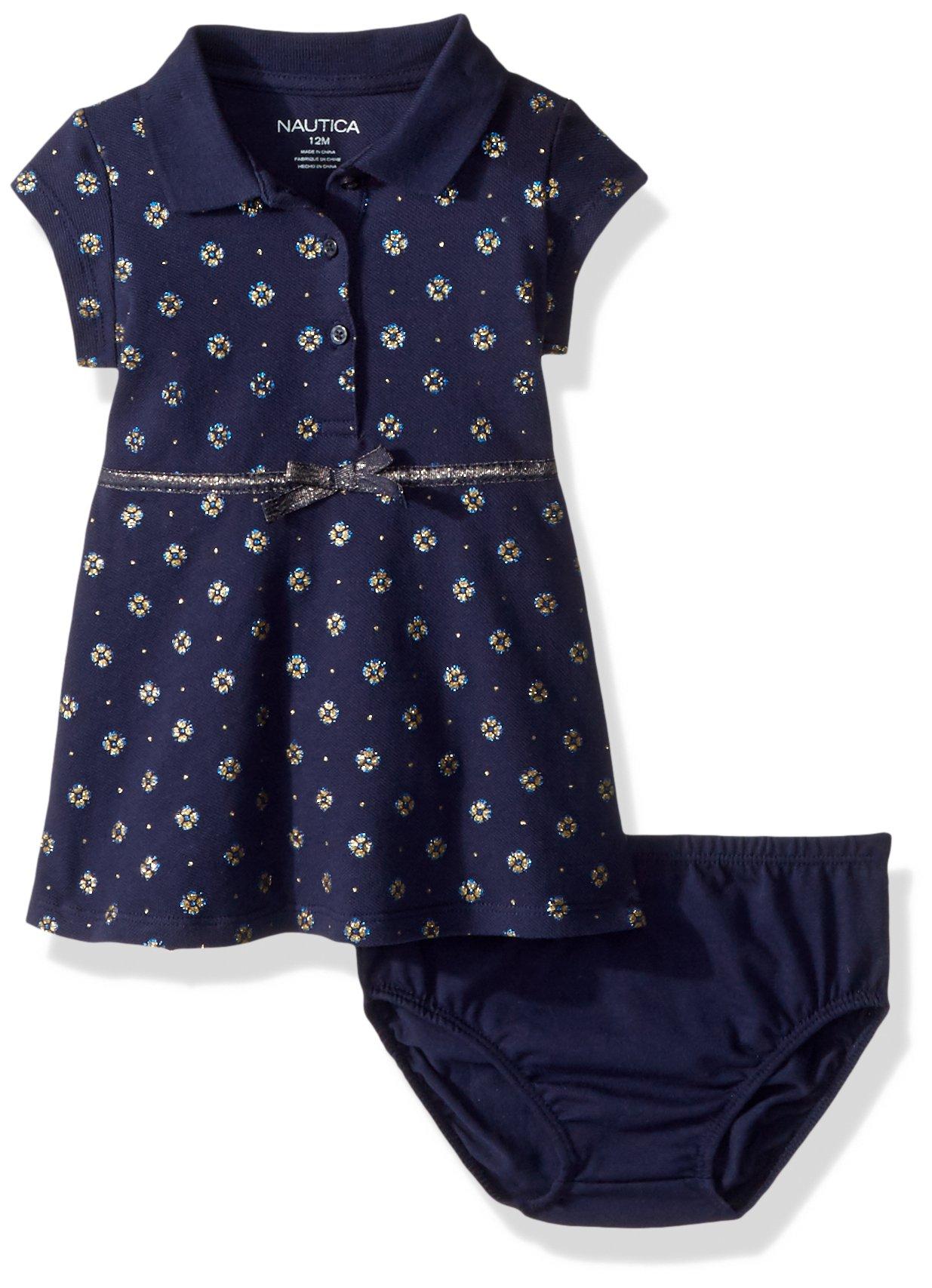 Nautica Baby Girls Short Sleeve Polo Dress, Lurex