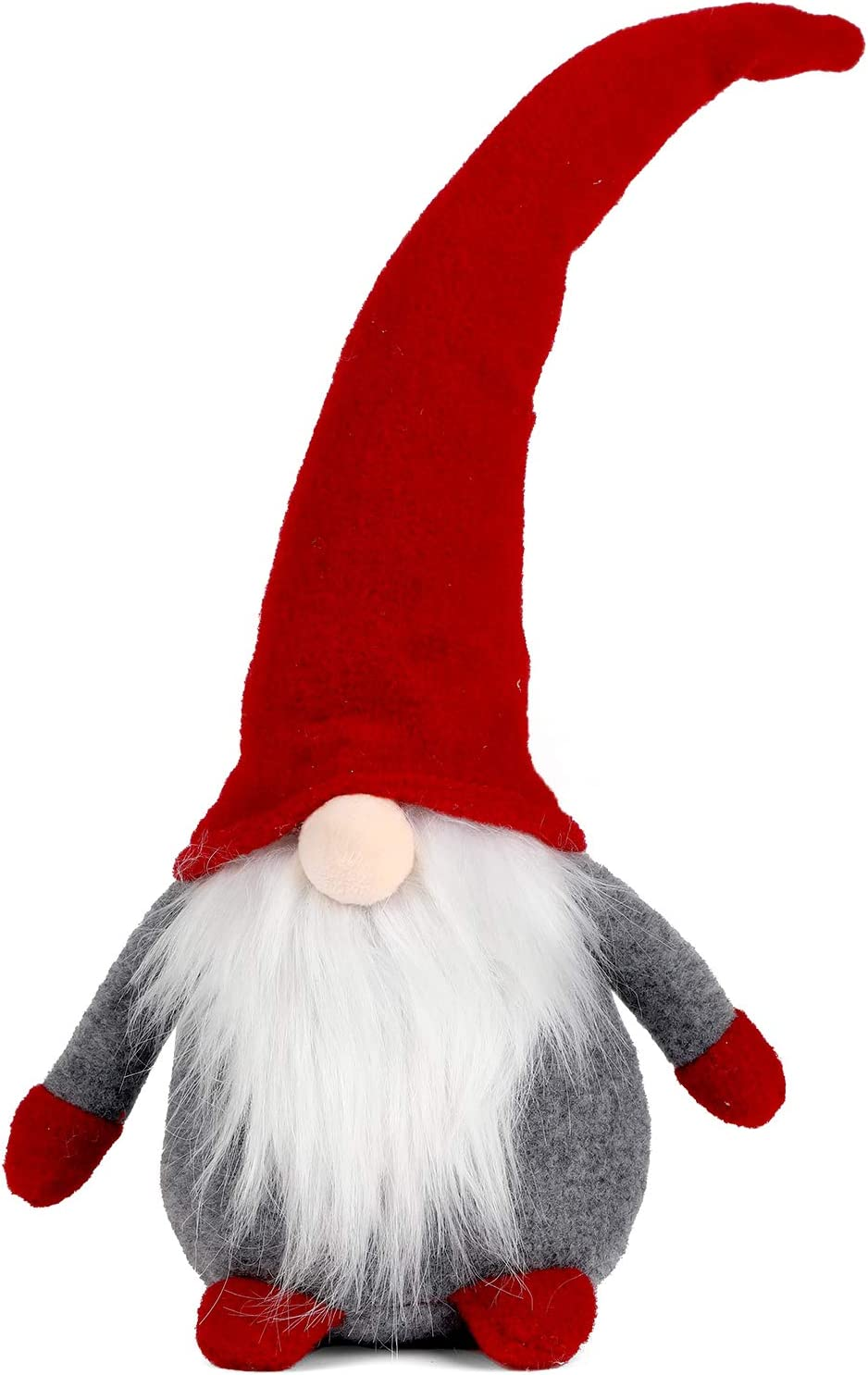 Handmade Swedish Gnome Plush Christmas Santa Home Decoration Indoor Outdoor Gnomes Naughty Plush Elf Toy Winter Table Ornament Holiday Presents (16Inch Red) Figurines for The Christmas Tree Decor