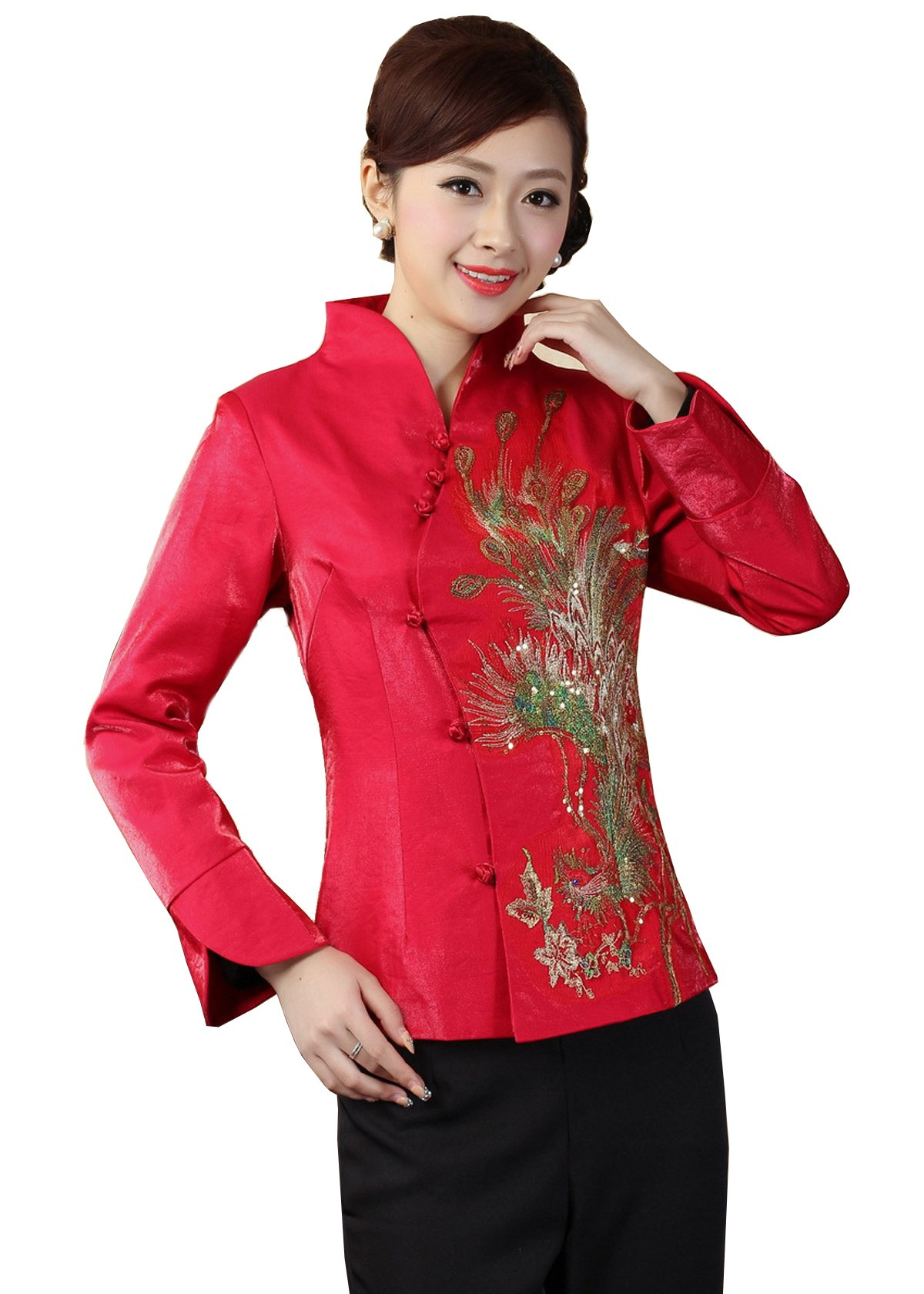JTC Womens Chinese Style Jacket Tang Suit Costume (4/6 -- Tag XL, Style 3)