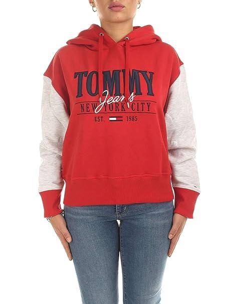 Tommy Hilfiger - Sudadera Mujer Color: Rojo Talla: S: Amazon.es: Ropa y accesorios