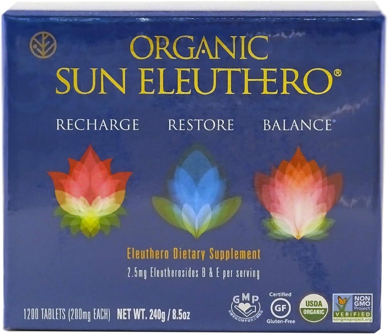 SUN CHLORELLA – Organic Sun Eleuthero 200mg, 1200 ct