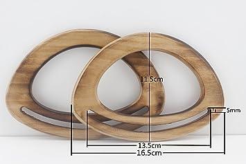 Asas de bolso de madera, asas de bolso de mano para hacer bolsos, hacer