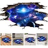 Amaonm Creative 3D Blue Cosmic Galaxy Wall Decals Removable PVC Magic 3D Milky Way Outer Space Planet Window Wall…