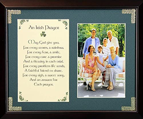 Irish Prayer Personalizable Framed Green Matted Blessing May God Give You