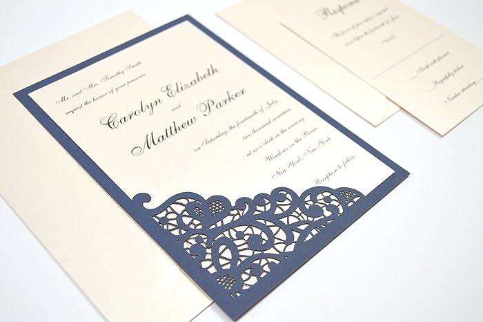 Amazon elegant lace laser cut wedding invitation sample kit elegant lace laser cut wedding invitation sample kit stopboris Choice Image