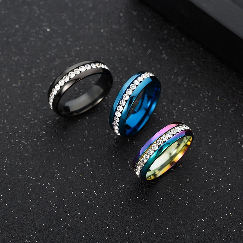 Vintage Unisex Rings for Women Men Titanium Stainless Steel Punk Totem Fashion Couple Round Ring Jewelry ODGear by ODGear_Rings (Image #3)