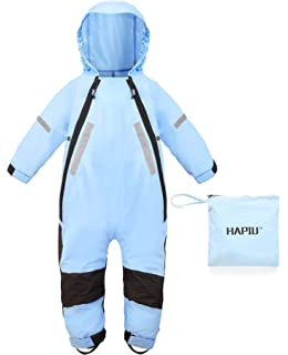 a6a470e0a17c05 HAPIU Kids Toddler Rain Suit Muddy Buddy Waterproof Coverall,Original