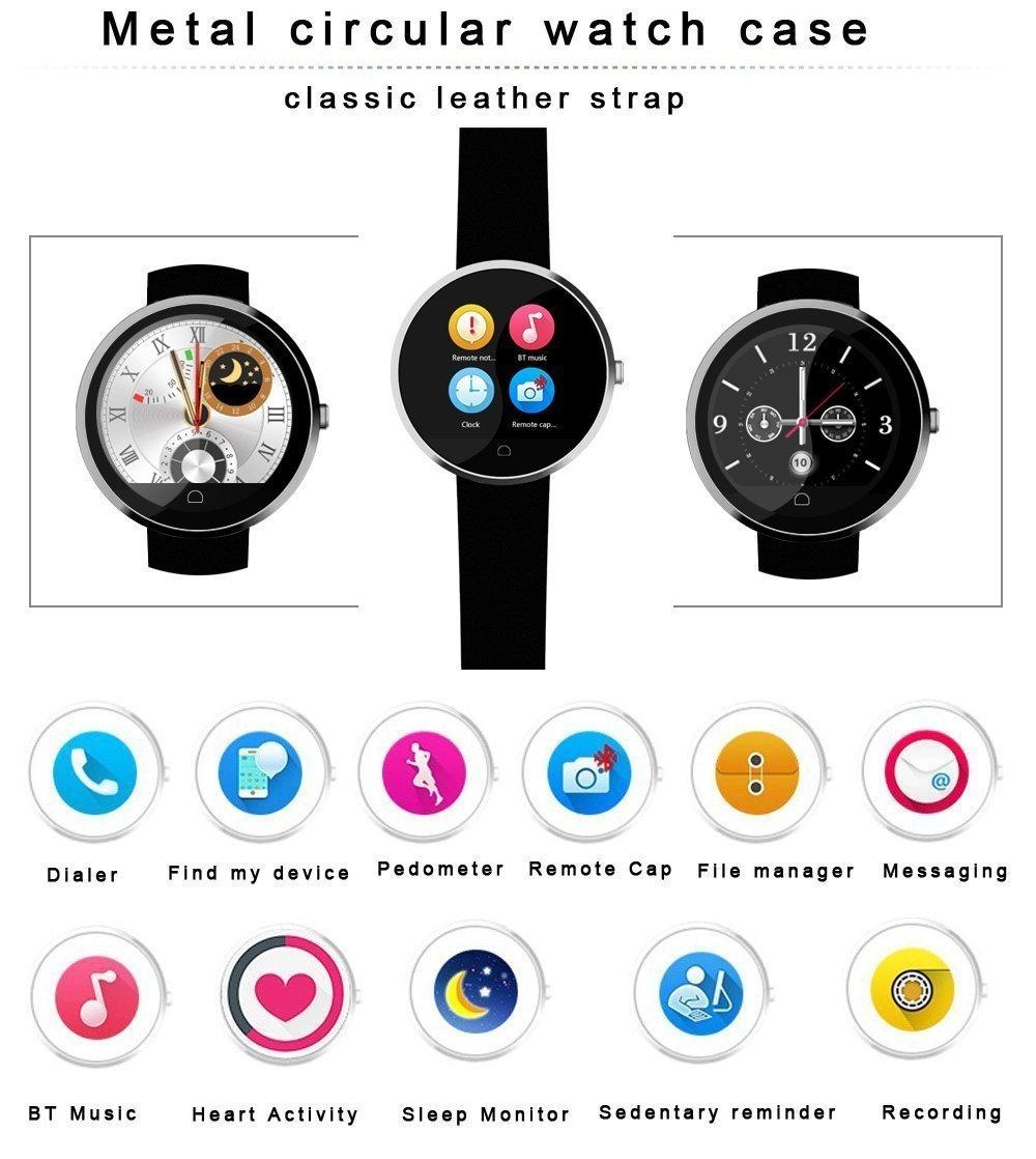 MACTREM Reloj Inteligente Smartwatch G6(IP65, Podometro, Ritmo Card¨ªaco, Notificador, Multi-Sincronizaci¨®n, Compatible con Android, iOS) Negro¡
