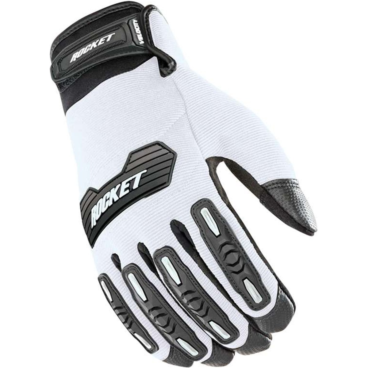 Joe Rocket Velocity 2.0 Men's Textile Street Motorcycle Gloves - White/Black / Large