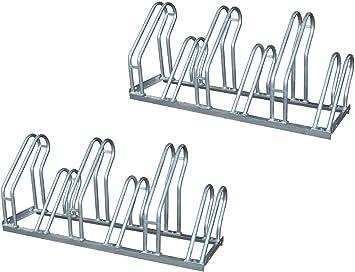 Aparcabicicletas soporte para aparca Bicicleta suelo Aparcamiento ...