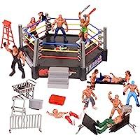 YIJIAOYUN 32pcs Mini Wrestling Playset Incluye 12 Figuras