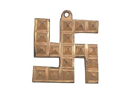 Buy Rudraksha Mart Copper Swastik Pyramid Vastu Remedies for