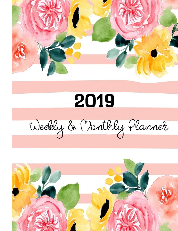 2019 Weekly & Monthly Planner: Agenda Schedule Organizer | A ...