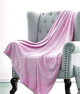 GorgeousHomeLinen 1 Light Pink Small Throw Super Soft Fleece Plush Warm  Lightweight Bed or Couch Travel 0f96b01e8
