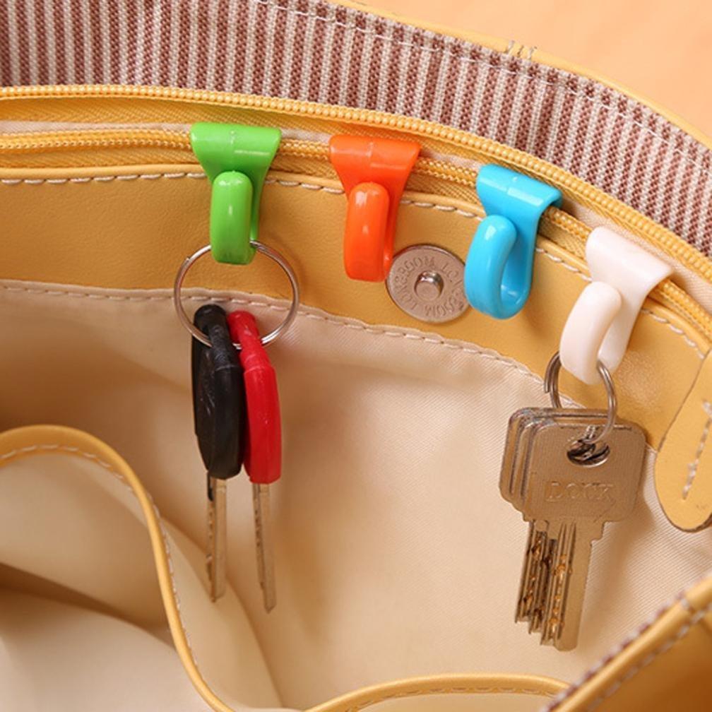 Hunpta Lot de 6supports à clés avec crochet aléatoire