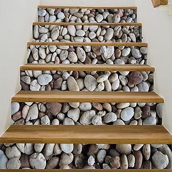 Elobaby 3d Treppenhaus Aufkleber Diy Vinyl Wand Wohnkultur Aufkleber