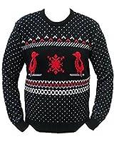 London Knitwear Gallery Christmas Reindeer Penguin Bird Retro Snowflake Jumper