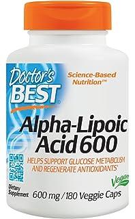 Doctors Best | ácido alfa-lipoico | 600 mg | 180 cápsulas veganas | sin