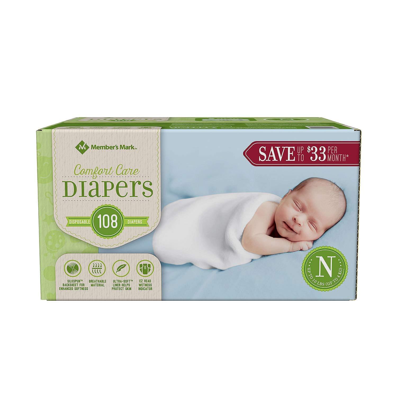 Amazon.com: Marca del Miembro Comfort Cuidado Bebé Pañales ...