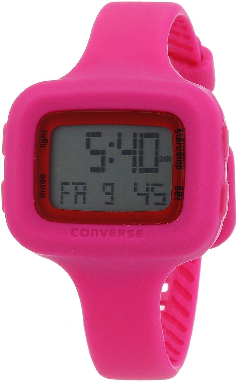 Converse Digi Sil - Reloj (Reloj de pulsera, Femenino, Silicona, Acero inoxidable, Rosa, Silicona, Rosa): Converse: Amazon.es: Relojes