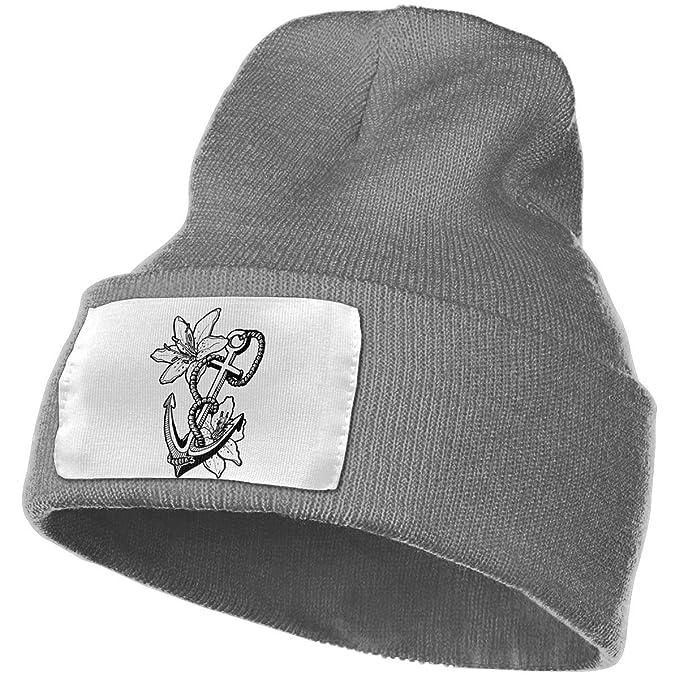 Black Anchor Unisex Fashion Knitted Hat Luxury Hip-Hop Cap