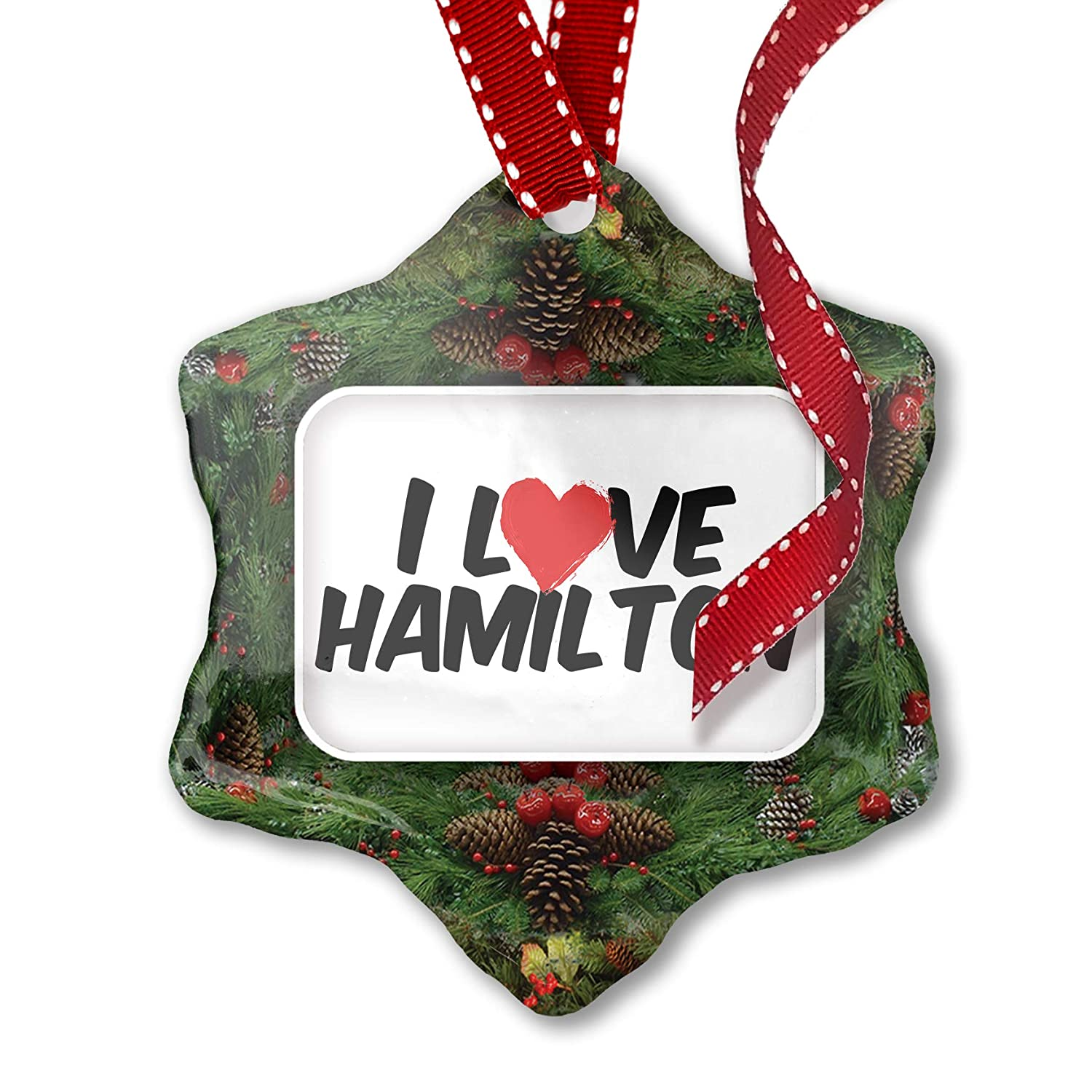 Hamilton Christmas Ornament.Amazon Com Neonblond Christmas Ornament I Love Hamilton