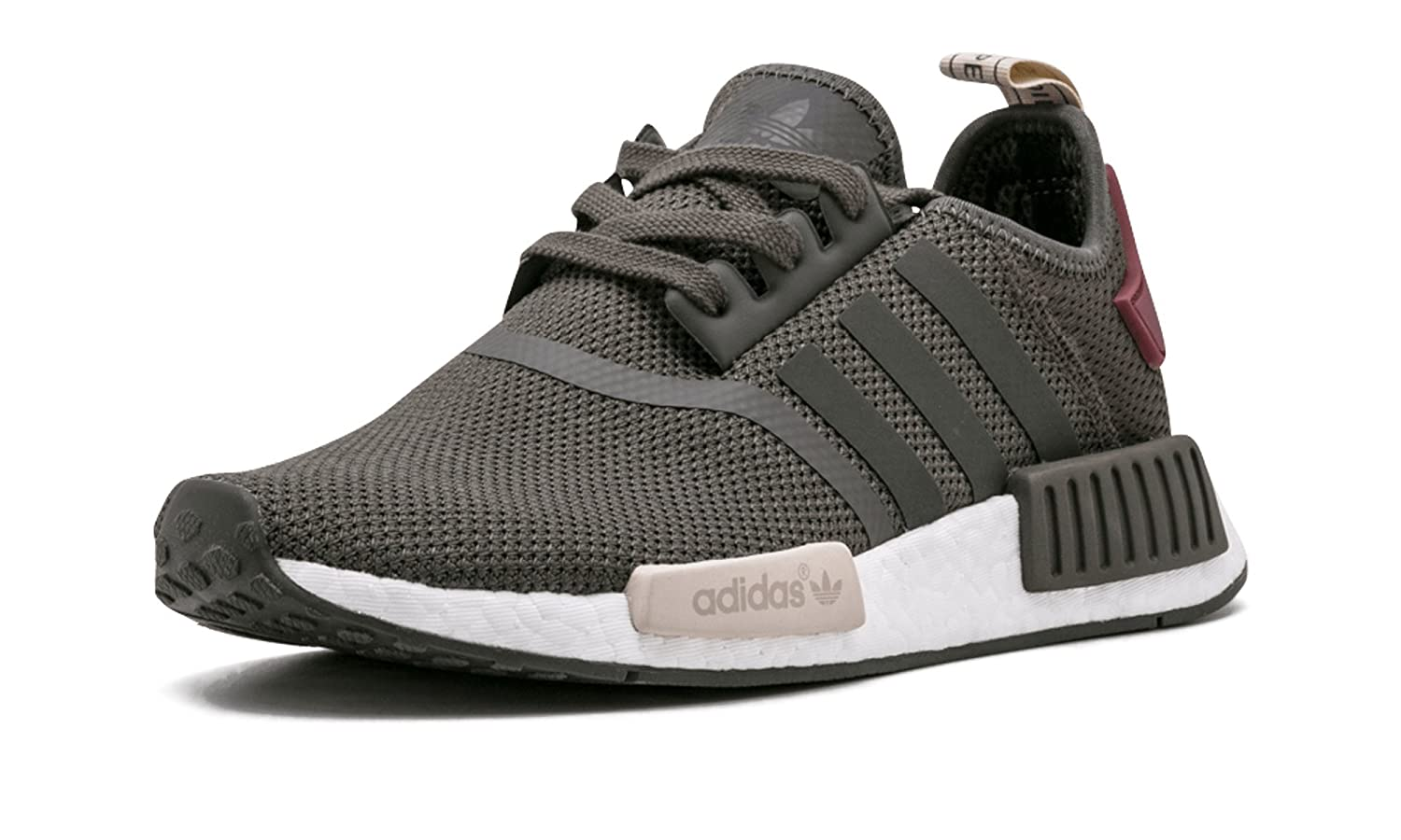 Brown, red, white Adidas Originals Men's Primeknit NMD_R1 Running shoes (Black)