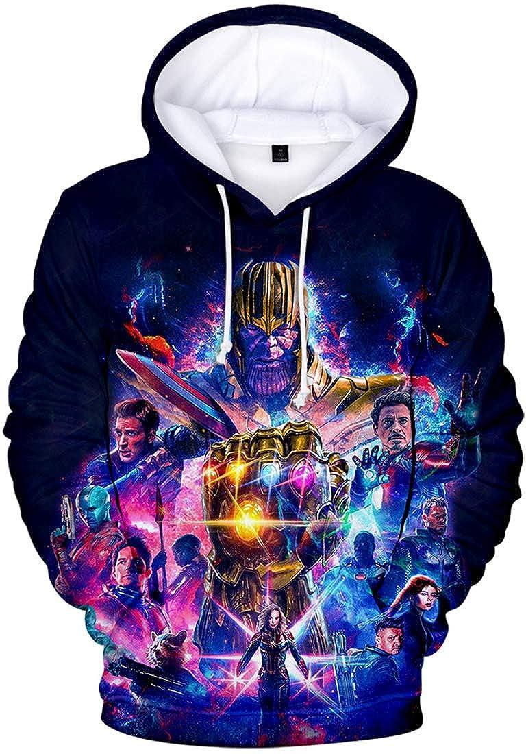 PANOZON Sudadera Ni/ñas Impresi/ón de Vengadores Endgame para Fanes de Avengers Superh/éroes Hoodie Unisex
