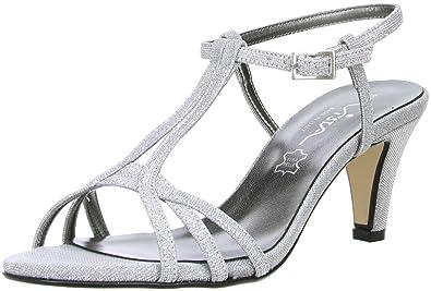new arrival da39d 358cf Vista Damen Glitzer Sandaletten Silber: Amazon.de: Schuhe ...