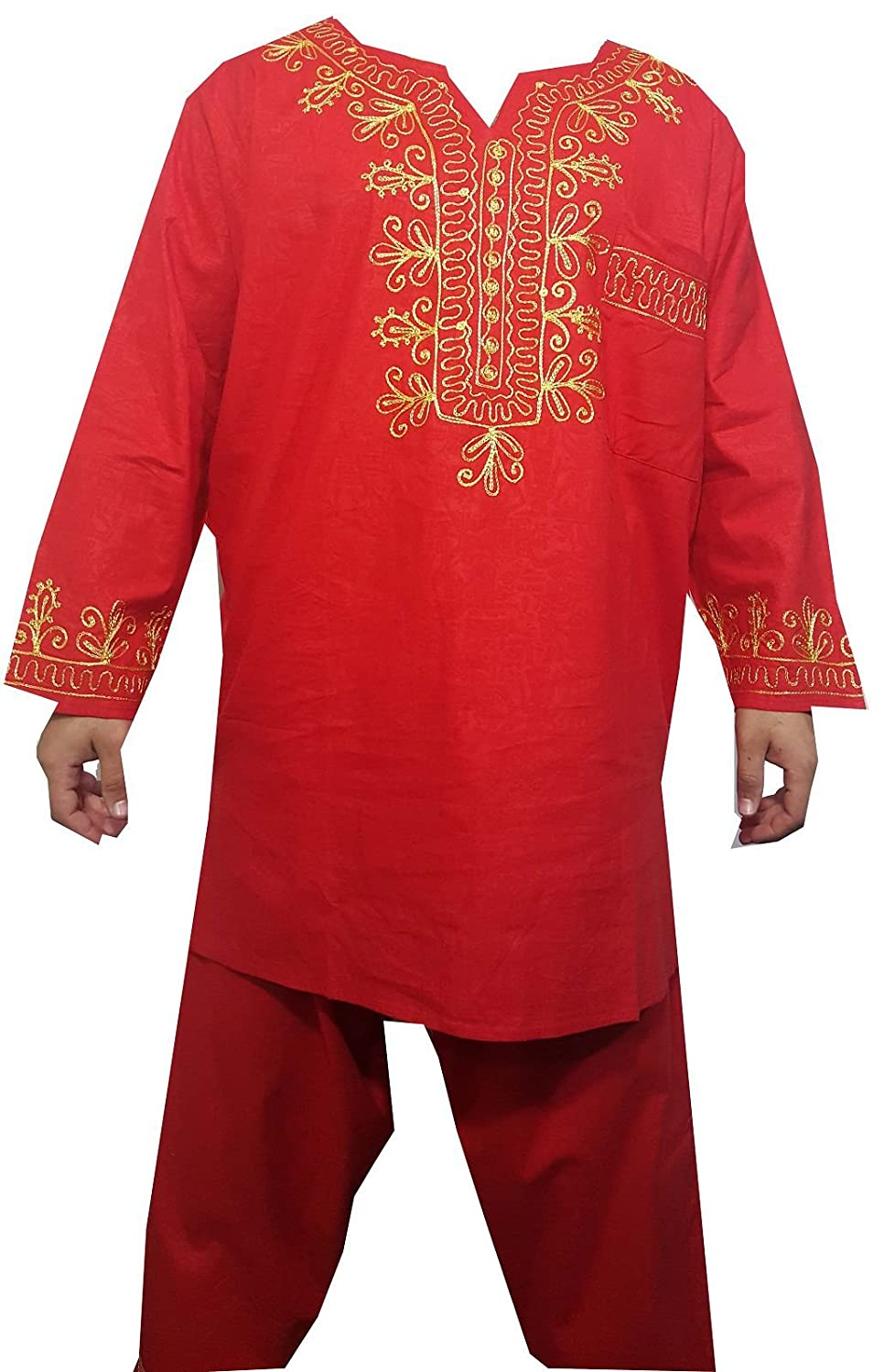 b431764fd15 Amazon.com  DecoraApparel African Traditional Men Suit Ethnic Clothing  Brocade Pant Set S