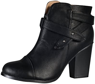 Women's Andrea-1 Chunky Heel Strappy Ankle Boot