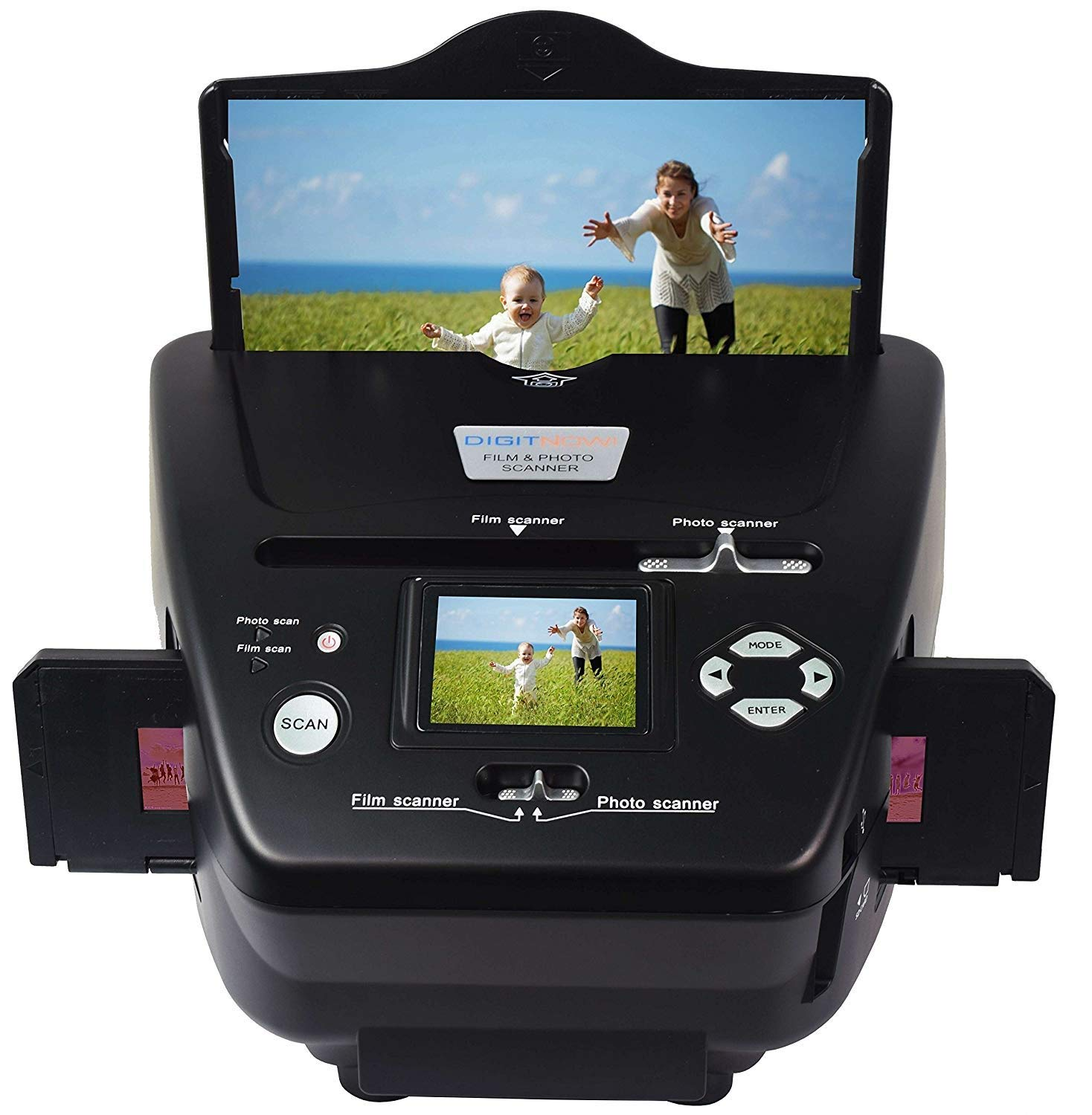 DIGITNOW All-in-One High Resolution 16MP Film Scanner, with 2.4'' LCD Screen Converts 35mm/135slides&Negatives Film Scanner Photo, Name Card by DIGITNOW